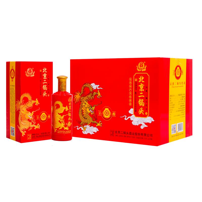 永丰 北京二锅头 京酿*10号 42度清香型白酒 500ml*6瓶