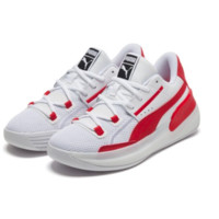 PUMA 彪馬 Clyde Hardwood Team 中性籃球鞋 194454-04 白色/鮮紅色 47.5