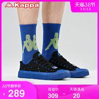 Kappa卡帕藝術家聯名五行水串標帆布板鞋情侶男女運動鞋泡芙鞋 *3件