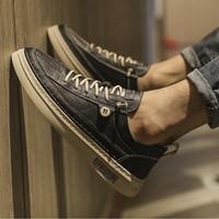 男鞋秋季新款低帮潮流百搭小白板鞋英伦休闲皮鞋潮鞋
