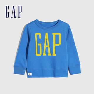 Gap 盖璞 儿童LOGO抓绒圆领卫衣 *3件