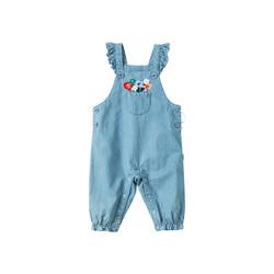 戴维贝拉女童背带裤连体衣2021春装新款宝宝哈衣新生儿爬爬服