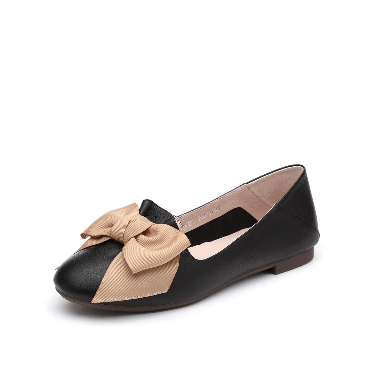 SENDA 森达 VCE3NC01DU1CQ9 女士蝴蝶结平底鞋
