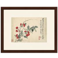 雅昌 国画水墨画《扶桑图》装饰画挂画 背景墙 茶褐色 59×48cm