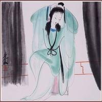 【朵云轩木版水印】林风眠 晨妆中国画装饰画非遗