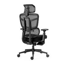 Hbada 黑白调 HDNY186BM 办公椅(黑色带脚托)