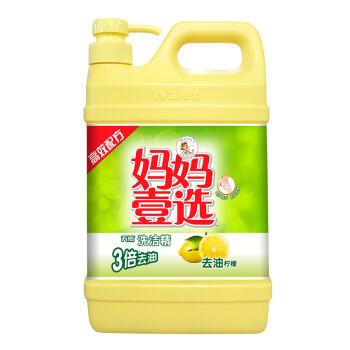 la mamma 妈妈壹选 洗洁精 去油柠檬 2kg *4件