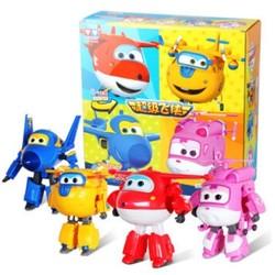 奥迪双钻(AULDEY)超级飞侠益智玩具大变形机器人4只礼盒套装 儿童玩具男女孩新年礼物 DS710291