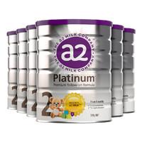 a2 艾尔 白金版 幼儿配方奶粉 2段 900g*6罐 +凑单品
