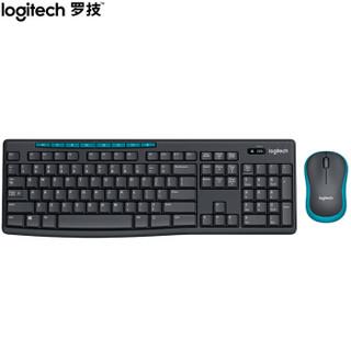 罗技(Logitech)MK275 键鼠套装 无线键鼠套装 办公键鼠套装 全尺寸 黑蓝色 带无线2.4G接收器