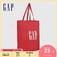 Gap LOGO印花休闲单肩包654312 春季新款大容量休闲手提包女