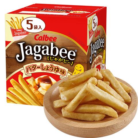 卡乐比( Calbee)薯条三兄弟日本进口黄油酱油味薯条零食80g *2件