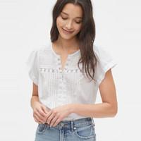 Gap 盖璞 572917 镂空刺绣衬衫