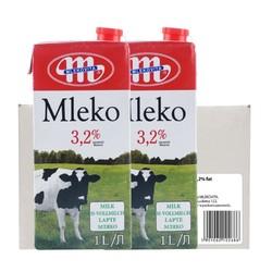 Mlekovita原装进口牛奶全脂1L*12 成人儿童孕妇早餐高钙家庭装