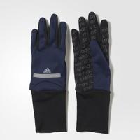 美国直邮Adidas/阿迪达斯AC2711抓绒拼色加长运动跑步手套女