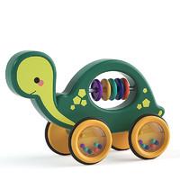 益趣童年 宝宝拉绳牵引拖拉学步车学步神器早教儿童玩具 小乌堆