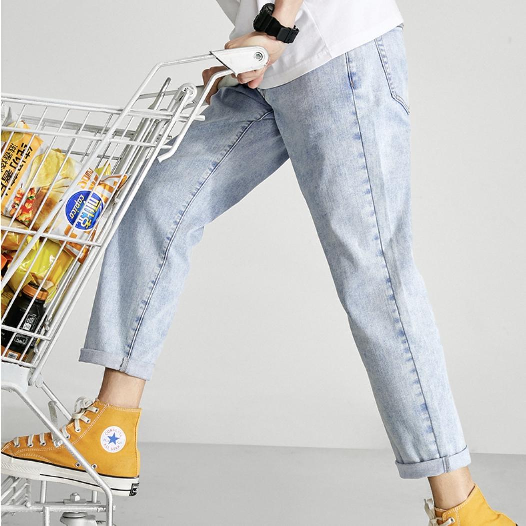 PEACEBIRD MEN 太平鸟 5B型直筒牛仔裤