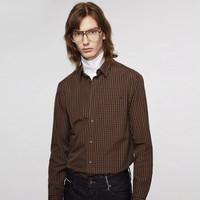 JACK JONES 杰克琼斯  219305522 男士商务纯棉格子衬衫