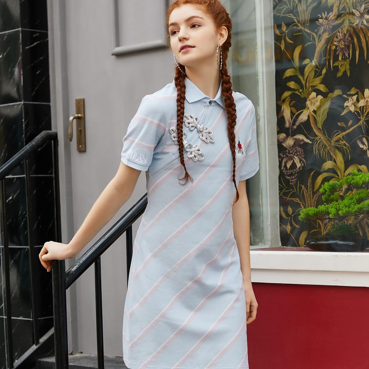 VERO MODA 花木兰联名 320261525C41 女士旗袍连衣裙