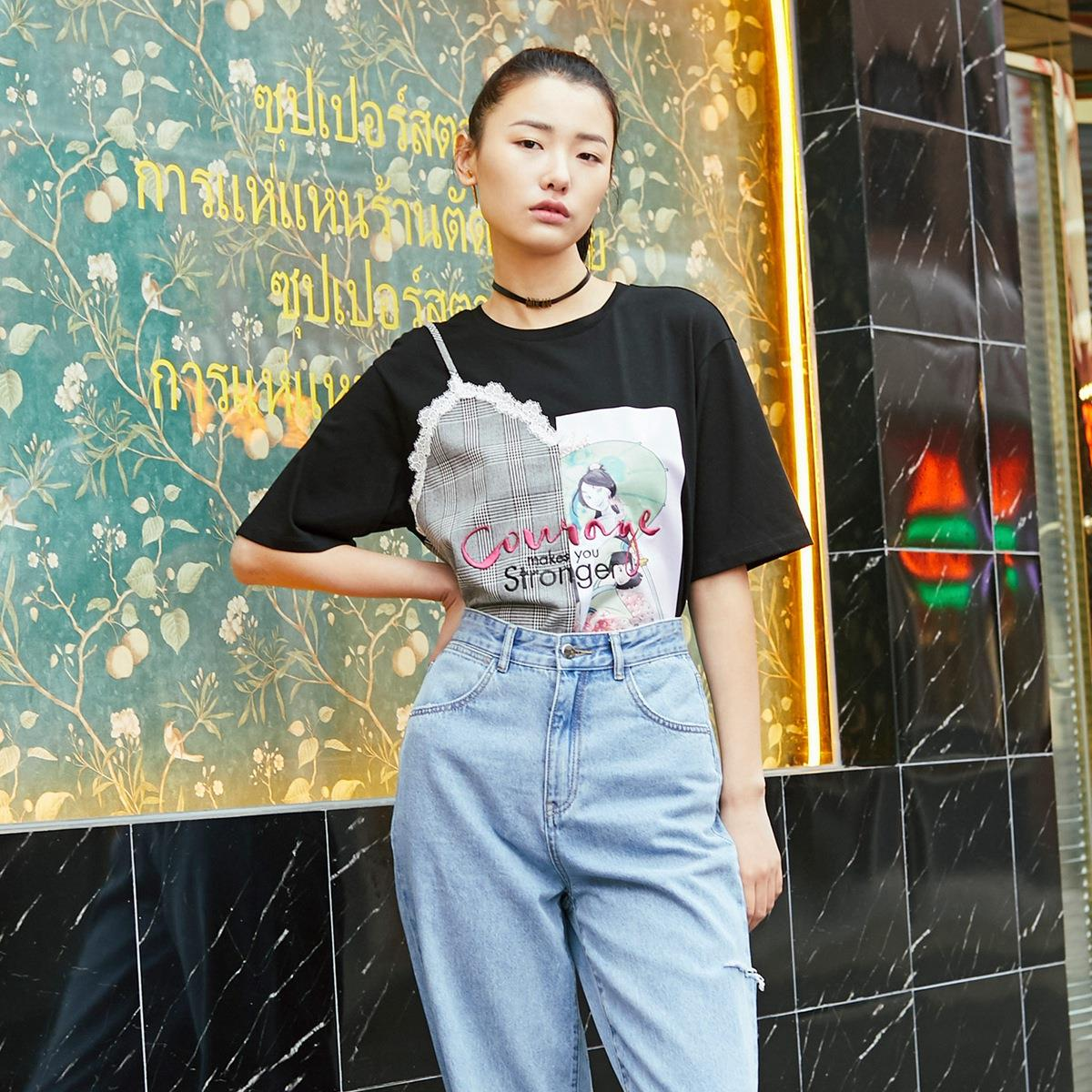 Vero Moda 花木兰联名 3202T1537S59  女士短袖T恤
