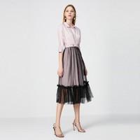 VERO MODA 31936Z510 女士设计感衬衫连衣裙