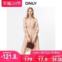 ONLY奥莱秋季新款收腰长袖修身收腰显瘦女连衣裙|119307590