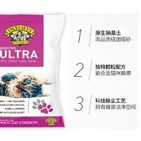 美国进口埃尔西博士无尘多猫释香18磅*3袋除臭膨润土结团猫砂猫咪