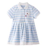 Annil 安奈儿 女童条纹连衣裙