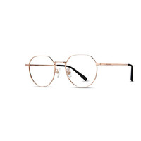 海伦凯勒新款金属圆框近视眼镜男韩版潮文艺大脸女镜框H23088