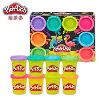 孩之寶(Hasbro)培樂多彩泥DIY 小麥粉制作 霓虹8色罐裝彩泥(448g)E5063 *6件