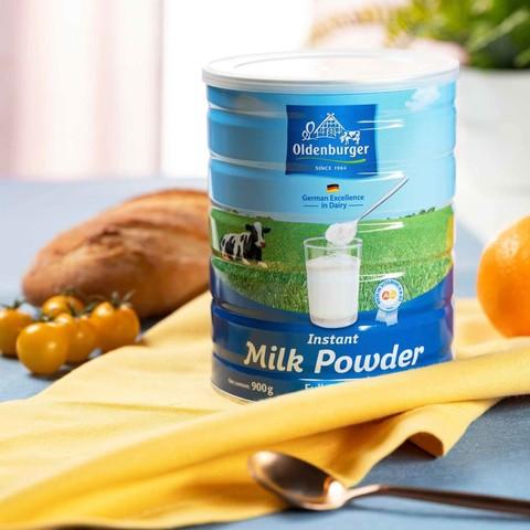 荷兰进口 欧德堡全脂奶粉 900g/罐  中老年成人青少年学生牛奶粉