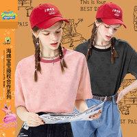 IMONE 艾漫 海绵宝宝联名款 女士休闲中长款印染短袖T恤 BTT013P