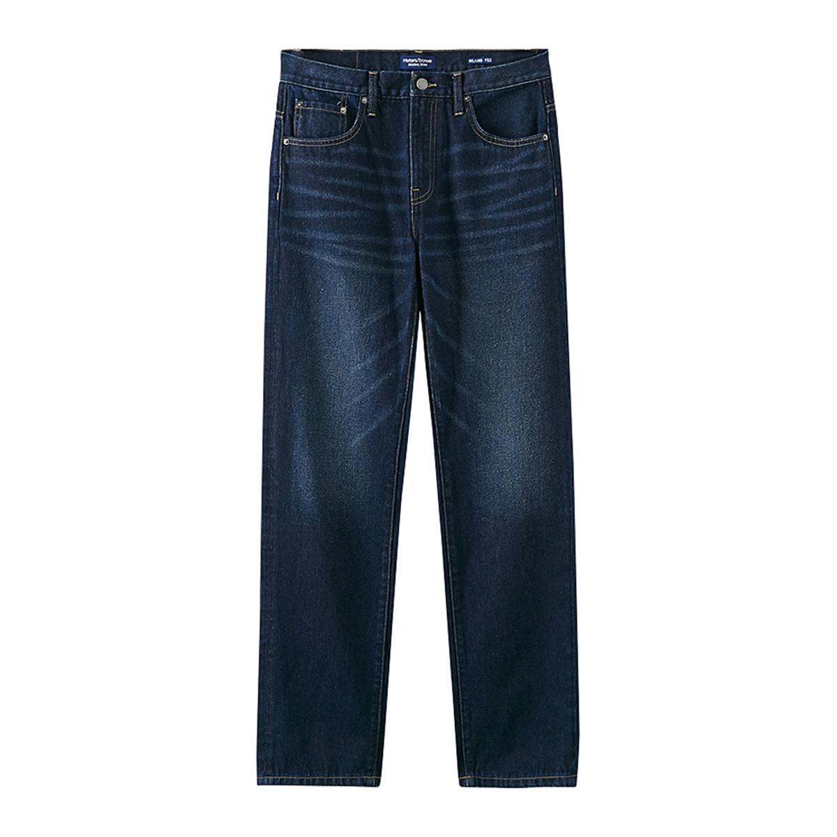 Meters bonwe 美特斯邦威 656W4317539992P659029 男士复古百搭直筒裤牛仔裤