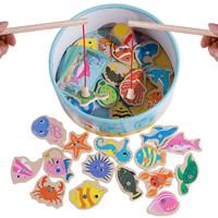 DALA 达拉 儿童钓鱼玩具 20鱼 1杆 袋装