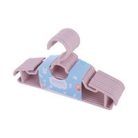 育芽儿童衣架 婴儿用品宝宝小孩塑料小衣架 10个装 粉色 *3件