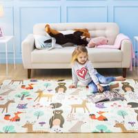 明德 厂家直发 泡沫地垫儿童地垫卡通宝宝爬爬垫可折叠XPE婴儿爬行垫机器折叠 欢乐动物园 150*200*1.0cm *3件