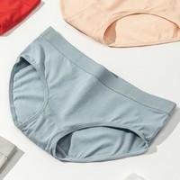 女神超惠买:TINCOCO 纯色棉质宽边女士三角内裤