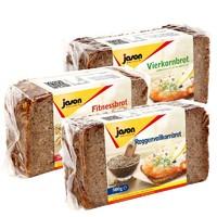 jason 捷森 黑麦全麦面包 500g *2件