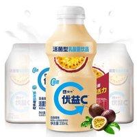 蒙牛 優益C 百香果味 330ml*4 活菌型乳酸菌乳飲品(新老包裝交替發貨)