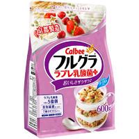 Calbee 卡乐比 乳酸菌风味水果麦片 600g + 富果乐 水果麦片700g/袋 + Old Jamaica 姜汁汽水 355ml