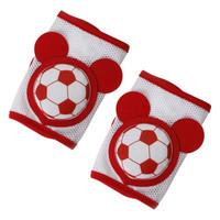 迪士尼 兒童學步嬰兒爬行護膝套防摔四季通用透氣運動護肘護腿 米奇足球紅
