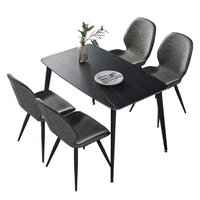 SKYTI餐桌 巖板餐桌椅組合 一桌四椅 1.6米魚肚款