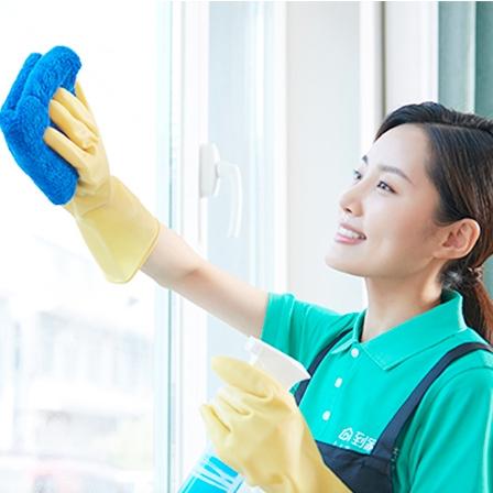 58到家 上门服务 深度保洁 擦玻璃10平米