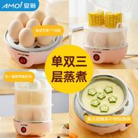 煮蛋器蒸蛋器自動斷電家用小型煮雞蛋羹1人多功能迷你早餐機神器