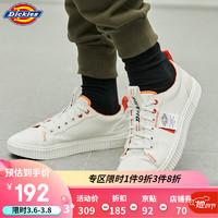 Dickies潮鞋 logo標簽低幫情侶運動鞋 男女同款帆布鞋DK008208 白色 40 *3件