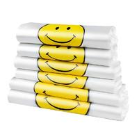 尚岛宜家 手提背心笑脸外卖袋 100只 大号45*29*6cm 加厚保鲜袋 *6件