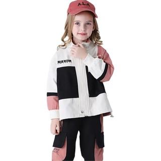 海威迩男女童套装2021春秋装新款网红洋气儿童装时髦大童两件套潮