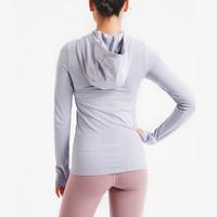 Keep女子透气运动外套速干吸汗弹力健身训练连帽袖外套10618