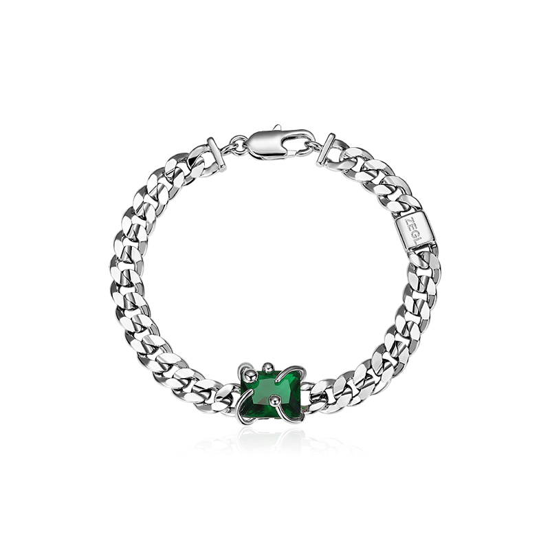 ZENGLIU 彩宝系列 ZS21030 绿光花蕊手链