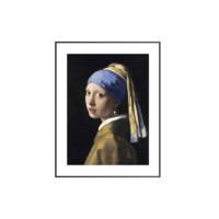买买艺术 维米尔《戴珍珠耳环的少女》画框尺寸50*65cm